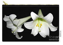 Pure White Easter Lilies Carry-all Pouch by Rose Santuci-Sofranko