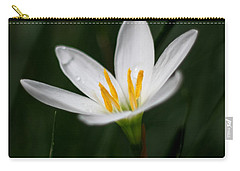 Pure White - Lily Carry-all Pouch by Ramabhadran Thirupattur