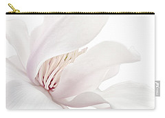 Carry-all Pouch featuring the photograph Purity White Magnolia Flower Blossom by Jennie Marie Schell