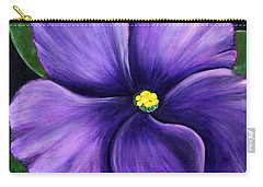 Purple African Violet Carry-all Pouch by Barbara Griffin