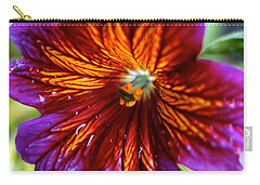 Purple And Orange Carry-all Pouch