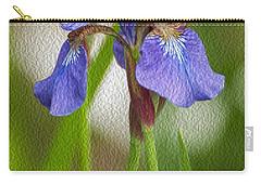 Purple Bearded Iris Oil Carry-all Pouch