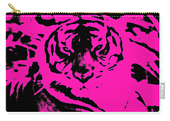 Carry-all Pouch featuring the photograph Magical Purple Bengal Tiger by Belinda Lee