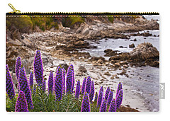 Purple California Coastline Carry-all Pouch by Melinda Ledsome