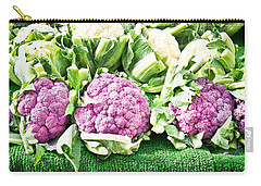 Purple Cauliflower Carry-all Pouch