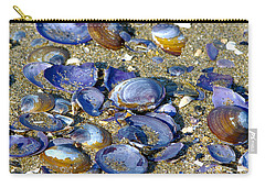 Purple Clam Shells On A Beach Carry-all Pouch