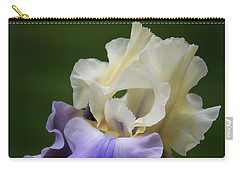 Carry-all Pouch featuring the photograph Purple Cream Bearded Iris by Patti Deters