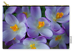 Purple Crocus Gems Carry-all Pouch