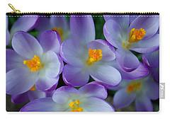 Purple Crocus Gems Carry-all Pouch