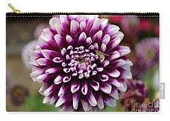 Purple Dahlia White Tips Carry-all Pouch