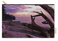 Carry-all Pouch featuring the photograph Purple Dreams In Bc by Barbara St Jean