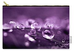 Purple Droplets Carry-all Pouch