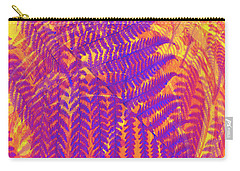 Carry-all Pouch featuring the digital art Purple Fern by Ann Powell