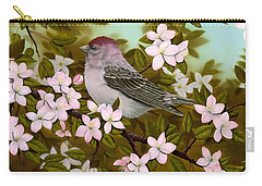 Purple Finch Carry-all Pouch by Rick Bainbridge