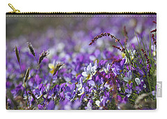 Purple Flower Bed Carry-all Pouch