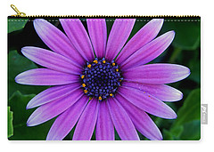 Purple Flower Carry-all Pouch by Pamela Walton