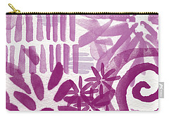 Purple Garden - Contemporary Abstract Watercolor Painting Carry-all Pouch