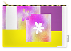Purple Glow Flower Carry-all Pouch