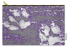 Purple Glow Pawprints Carry-all Pouch