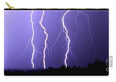 Purple Rain Lightning Carry-all Pouch