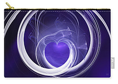 Carry-all Pouch featuring the digital art Purple Heart by Menega Sabidussi