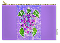 Purple Heart Turtle Carry-all Pouch