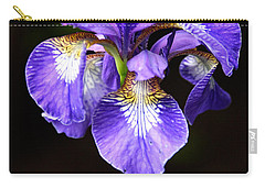 Purple Iris Carry-all Pouch by Adam Romanowicz