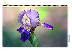 Purple Iris Carry-all Pouch by Deena Stoddard