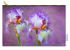 Purple Iris Carry-all Pouch by Lena Auxier