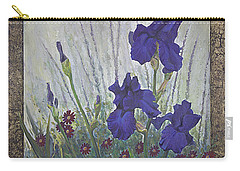 Carry-all Pouch featuring the painting Purple Iris by Rob Corsetti