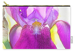 Purple Iris Watercolor Carry-all Pouch