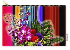 Purple Lady Flowers Carry-all Pouch