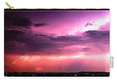 Purple Lightning Panorama Carry-all Pouch