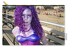 Carry-all Pouch featuring the photograph Purple Mermaid by Ed Weidman