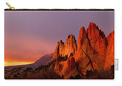 Carry-all Pouch featuring the photograph Purple Morning At Garden Of The Gods by Ronda Kimbrow
