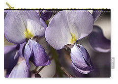 Carry-all Pouch featuring the photograph Purple Of Wisteria by Joy Watson