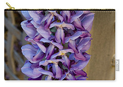 Purple Orchid Like Flower Carry-all Pouch