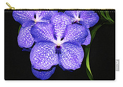 Purple Orchids - Flower Art By Sharon Cummings Carry-all Pouch by Sharon Cummings