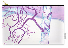 Purple Paper Birch Carry-all Pouch