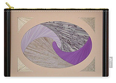 Carry-all Pouch featuring the mixed media Purple Passion by Ron Davidson