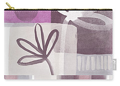 Purple Patchwork- Contemporary Art Carry-all Pouch