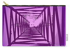 Carry-all Pouch featuring the photograph Purple Perspective by Clare Bevan