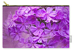 Purple Phlox Carry-all Pouch by Lena Auxier