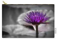 Purple Pond Lily Carry-all Pouch by Lynn Sprowl