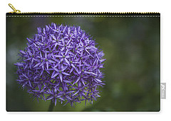 Purple Puff Carry-all Pouch by Jacqui Boonstra