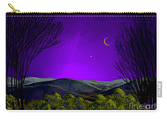 Purple Sky Carry-all Pouch by Carol Jacobs