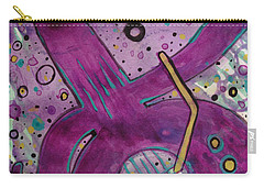 Purple Strings Carry-all Pouch