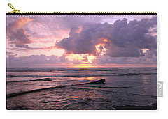 Purple Pink Sunset Carry-all Pouch by Athena Mckinzie
