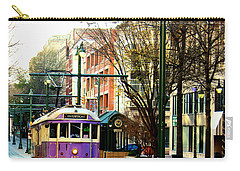 Carry-all Pouch featuring the photograph Purple Trolley by Barbara Chichester