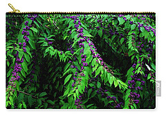 Purple Vibe Carry-all Pouch by Deborah  Crew-Johnson